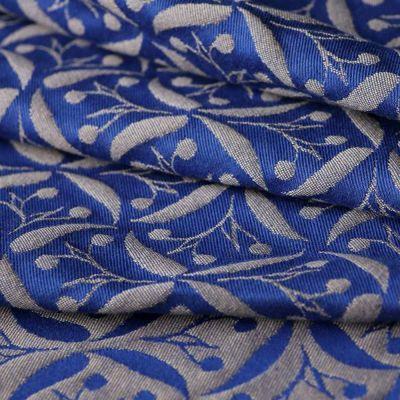 Yaro Retro Berry Dark Blue-Beige Wool S6 Szövött Hordozókendő