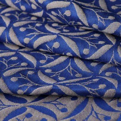 Yaro Retro Berry Dark Blue-Beige Wool Karikás Hordozókendő