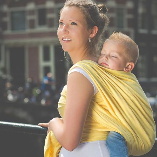 Pure Baby Love Yellow S4 Szövött Hordozókendő