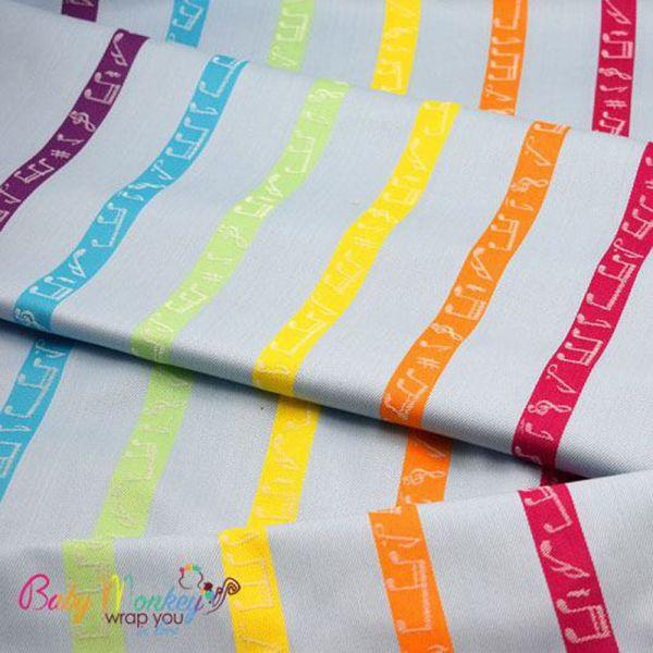 Baby Monkey Rainbow Melody Karikás Hordozókendő